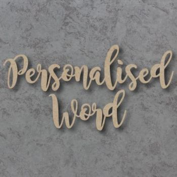 Magnolia Font Joined Personalised Craft Words
