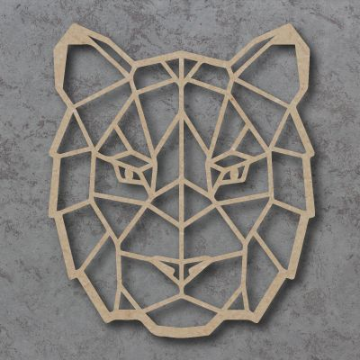Geometric Tiger Face Detailed Craft Shapes