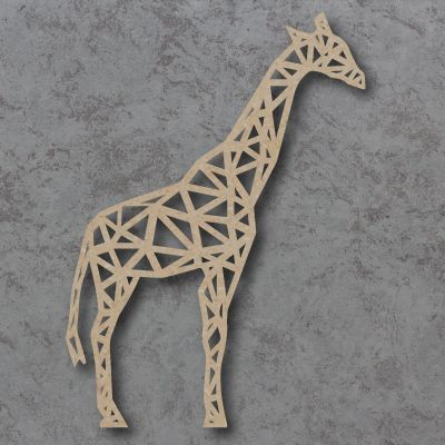 Geometric Giraffe Full Body Detailed Craft Shapes