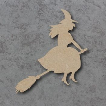 Witch on Broom mdf craft Shape