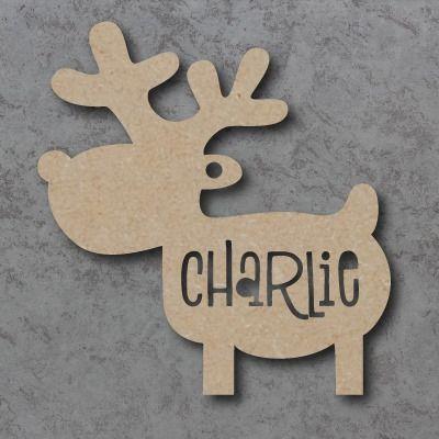 Reindeer Personalised Cutout Bauble