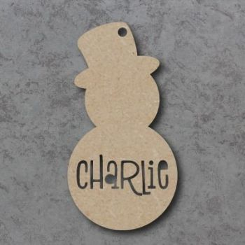 Snowman Personalised Cutout Bauble