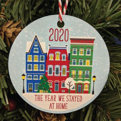 The year we stayed at home Printed Bauble, Gift Tag