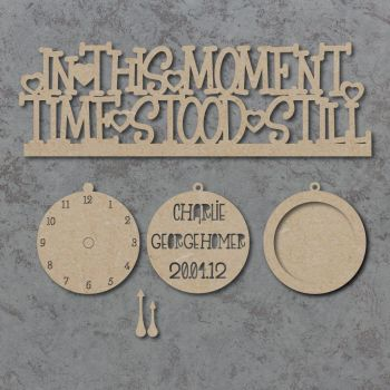 In This Moment Time Stood Still Personalised Craft Sign