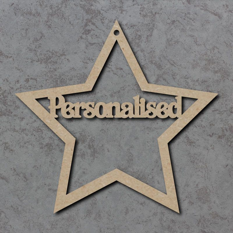 Personalised Star (with text of your choice)
