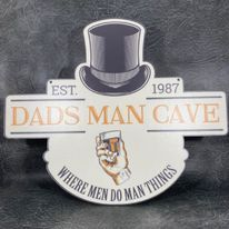 Personalised Printed Dads Man Cave Top Hat Sign