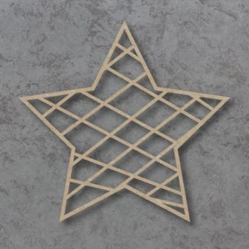 Geometric Star Detailed Craft Shapes