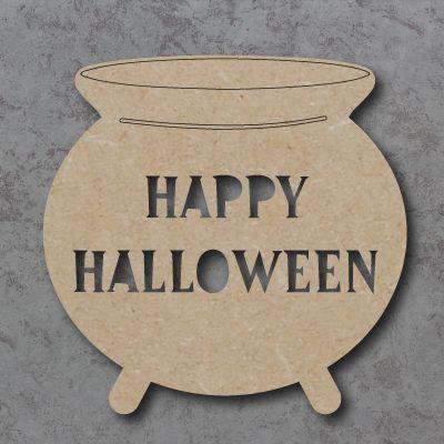 Happy Halloween Cauldron Sign