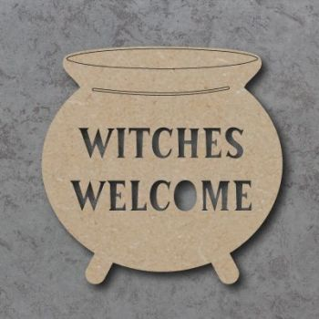 Witches Welcome Cauldron Sign