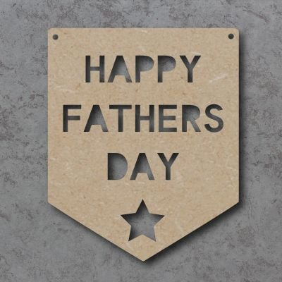 Happy Fathers Day Flag Craft Sign