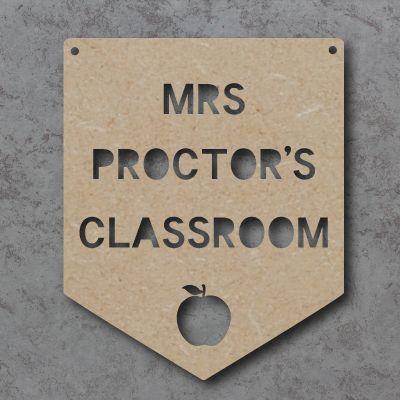 Personalised Teacher Classroom Flag Craft Sign