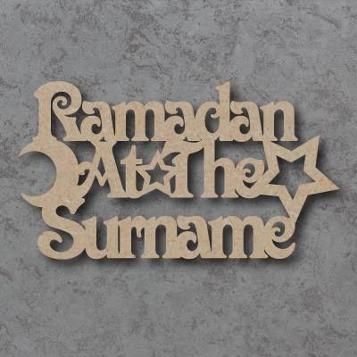 Ramadan at the 'Your Name' Craft Sign