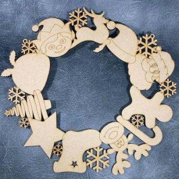 Christmas Character Wreath