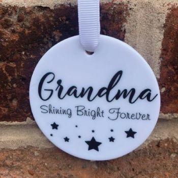 'Grandma Shining Bright Forever' hanging keepsake