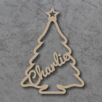 Christmas Tree Name Bauble