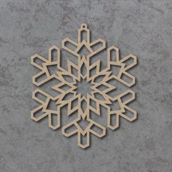 Geometric Snowflake Detailed Craft Shapes