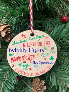 Christmas At The Printed Bauble, Gift Tag