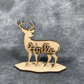 Personalised Reindeer Table Place Name