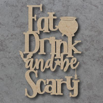 Eat Drink and be Scary Craft Sign