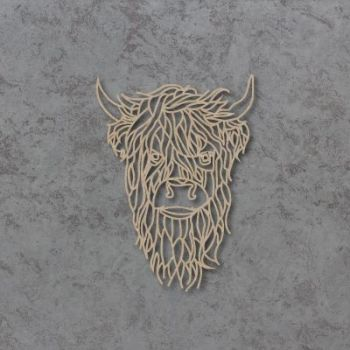 Geometric Highland Cow 02 Detailed Craft Shapes