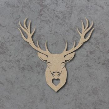 Stag Heart Wall Plaque Craft Shapes