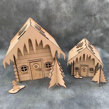 3D Christmas House Craft Kit