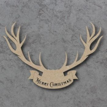 Merry Christmas Stag Head Craft Shapes
