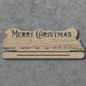 Merry Christmas Train Freestanding Craft Sign