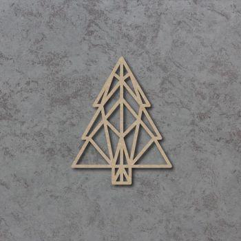 Geometric Christmas Tree Detailed Craft Shapes