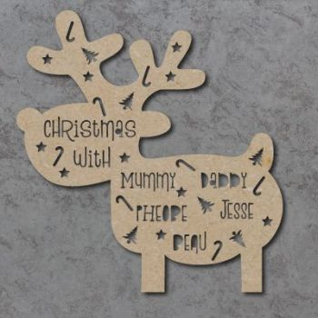 Reindeer Cutout Christmas With Plaque