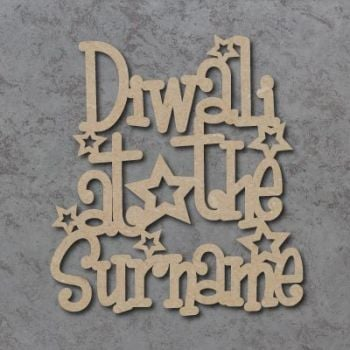 Diwali At The (FUNKY FONT) Craft Signs