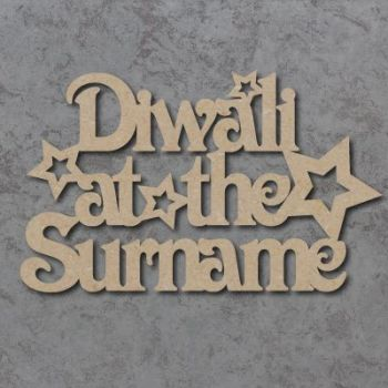 Diwali At The (VICTORIAN FONT) Craft Signs