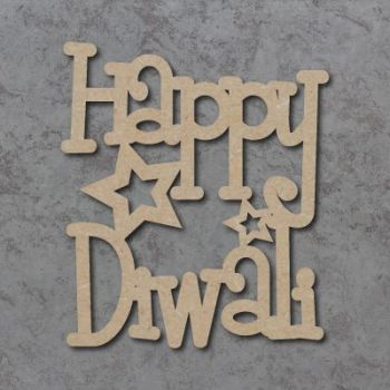 Happy Diwali (Funky Font)  Craft Signs