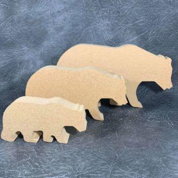 Polar Bear Craft Shapes 18mm Thick