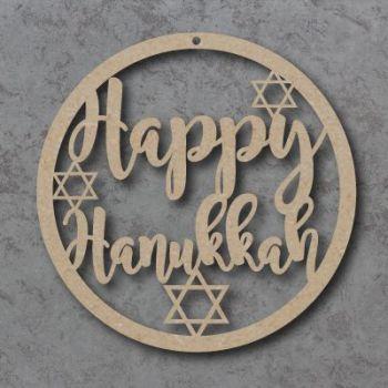 Happy Hanukkah Circle Signs