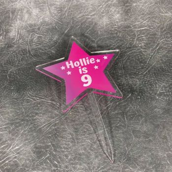 Star Printed Cake Topper (more colours available)