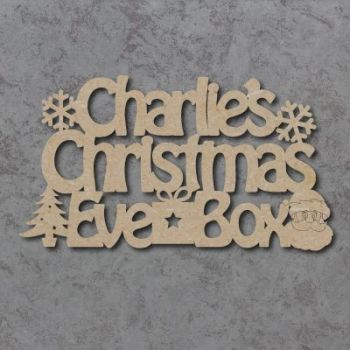 Personalised Christmas Eve Box Topper 02 Sign