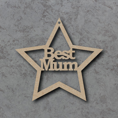 Best Mum Star Sign mdf Shapes
