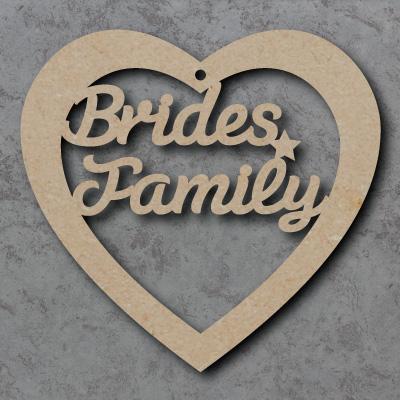 \'Brides Family\' Heart mdf Shape