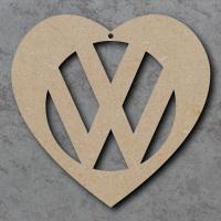 VW Heart Detailed Craft Shape