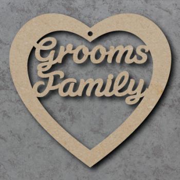 Grooms Family Heart