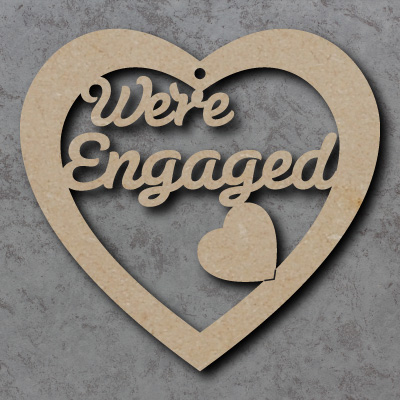'We're Engaged' Heart