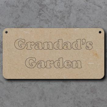 Grandads Garden Craft Sign