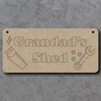 Grandads Shed Craft Sign