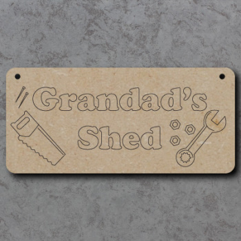 Grandads Shed Craft Sign
