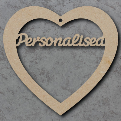 Personalised Heart Craft Shapes