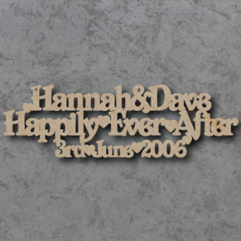 Personalised Happily Ever After Craft Sign