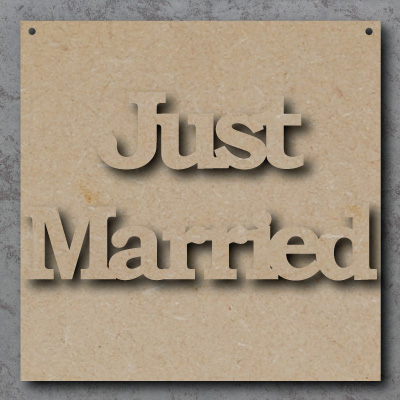 Just Married mdf Sign