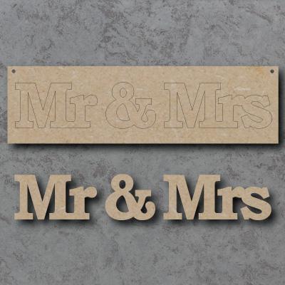 Mr & Mrs Craft Sign