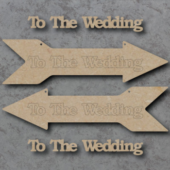 Wedding Arrow Direction Craft Shapes